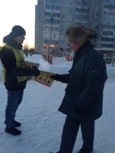 раздача листовок в Петрозаводске