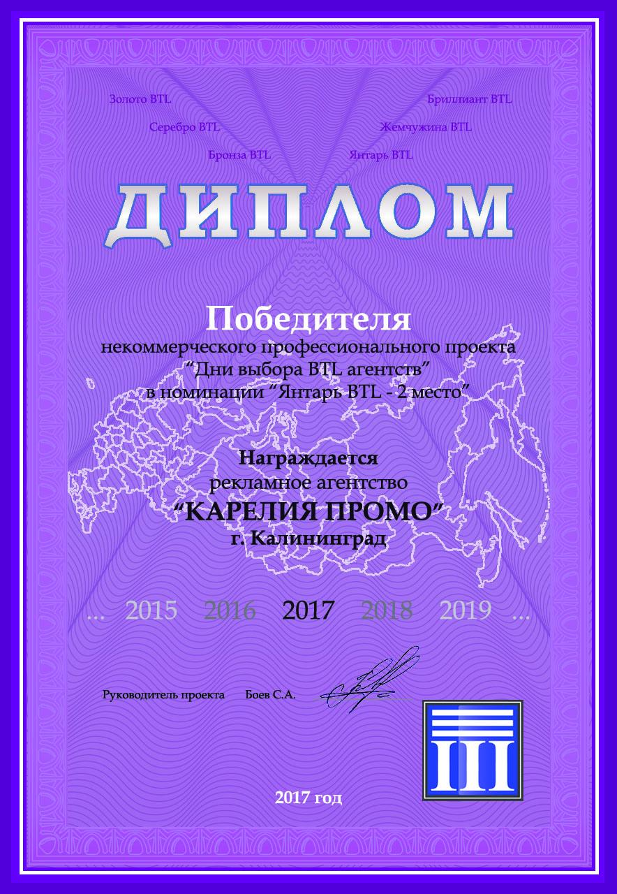 2017 диплом Калининград